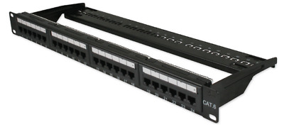 CAT6 LAN Ethernet Network Patchpanel 24 Port IDC LSA Punchdown • 17.99£