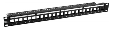 24 Port Toolless Keystone Patch Panel Unloaded Cat6 And Cat5e • 13.50£
