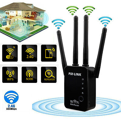 300Mbps Wifi Range Extender Repeater Wireless Router Range Signal Booster 2.4GHz • 13.65£