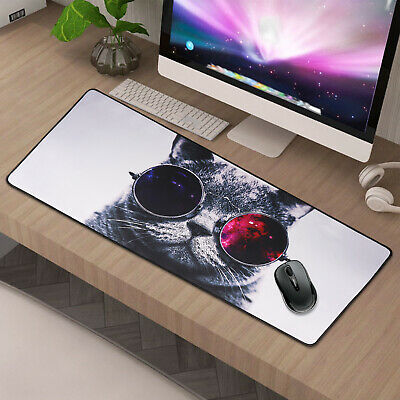 90x40CM EXTRA LARGE  Cute Cat GAMING MOUSE PAD MAT FOR PC LAPTOP MACBOOK  UK • 5.59£