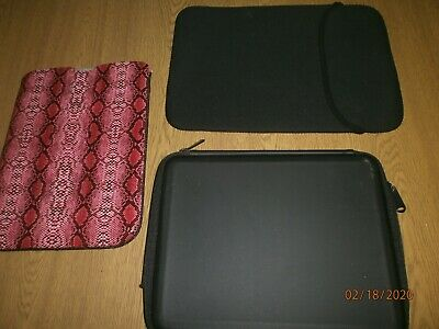 Computer Cases IPads Ebook Readers Foam Soft Pink Black Patterened X 3 • 12.99£