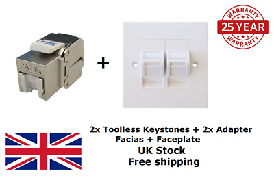 CAT6a Keystone Jacks With Faceplate And Adapters  • 7.50£