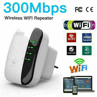 WiFi Signal Extender Range Booster Internet Network Amplifier Repeater UK 300M • 11.49£