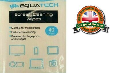 40 X SCREEN CLEANING WIPES For Laptop Screens Clean TV/Phone/Tablet Cleaner • 2.89£
