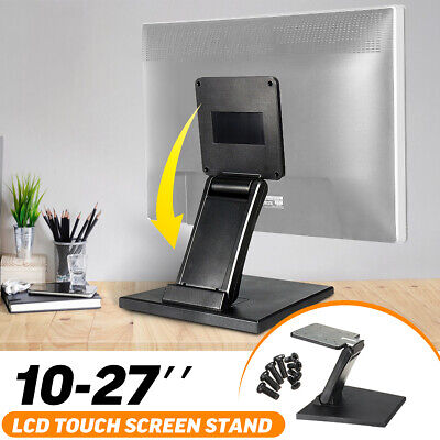 Fold Desk LCD Monitor Stand Mount Touch Screen Holder Adjustable For VESA • 13.95£