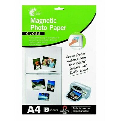 A4 Magnetic Photo Paper - Gloss - For Inkjet Printers • 3.49£