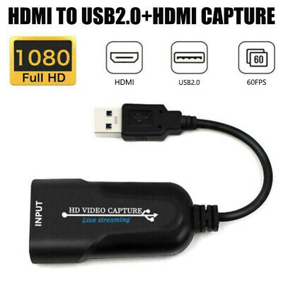 USB 3.0 To HDMI Video Capture 1080P HD Video Capture Adapter For TV Game Live UK • 14.65£