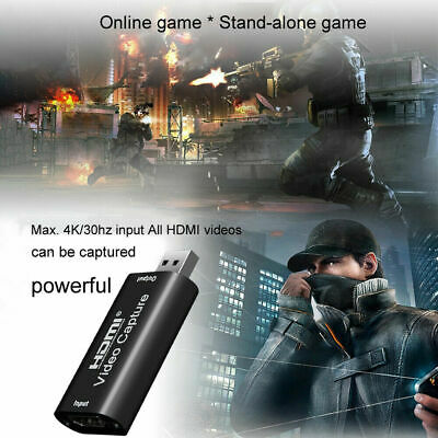 Video Capture Card HDMI USB 2.0 HD 1080P For Live Streaming Recorder Grabber • 11.35£