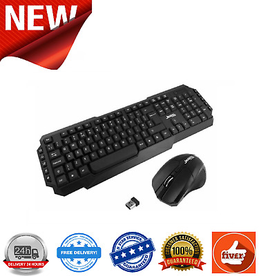 Jedel WS880 Wireless Gaming Desktop Keyboard And Mouse Multimedia UK Layout • 12.49£