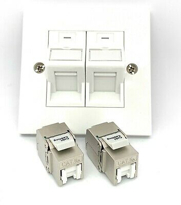 2x CAT6a Shielded Toolless Keystone + Faceplate And Adapter Kit  • 6.90£