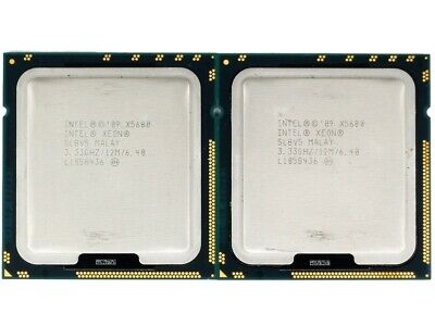 Matched Pair (2 CPUs) Intel Xeon X5680 Six-Core 3.33GHz 12MB Cache SLBV5 • 89.99£