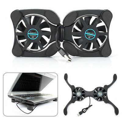 USB Cooler Cooling Pad Collapsible Fan Radiator For Laptop Notebook UK • 6.75£