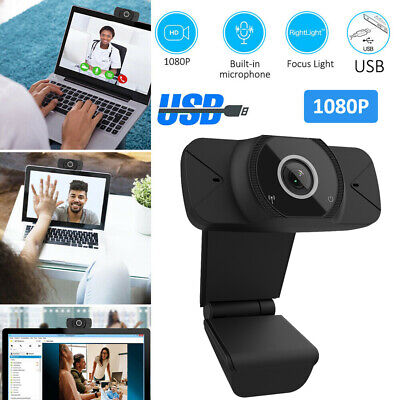 1080P Full HD Webcam USB Auto Web Camera With Microphone For PC Desktop Laptop • 10.33£