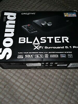 Creative SB X-Fi Surround 5.1 Pro V3 Sound Blaster USB External Sound Card  • 49.99£
