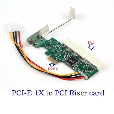 PCI-e PCI Express To PCI Adapter Card Riser Extender 32bit Asmedia 1083 Chip • 9.49£