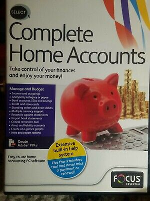 Complete Home Accounts Pc Cd-rom -  • 2.99£