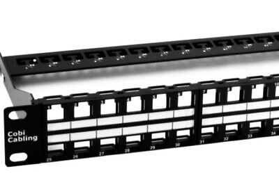 CAT6a 48 Port Toolless Shielded Keystone Patch Panel Loaded • 112£