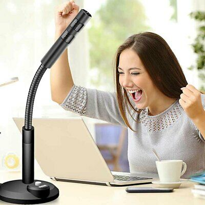 PC USB Podcast Studio Condenser Recording Microphone Vocal Singing Mic Stand New • 9.43£