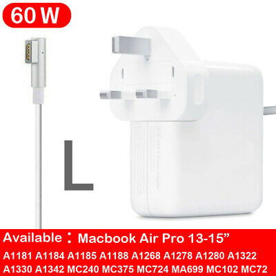60W Model L AC Wall Charger Power Adapter For Macbook Pro A1344 A1172 A1278 • 15.99£