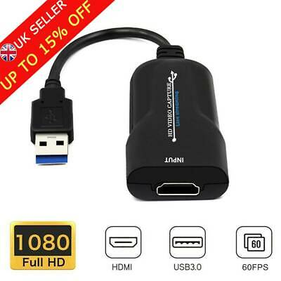 1080P 60FPS Video Capture Card HDMI To USB 3.0 Video Grabber Live Streaming UK` • 9.69£