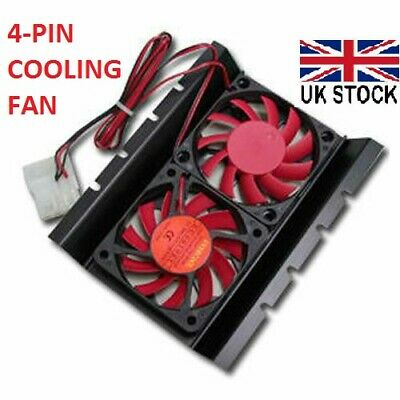 EverCool NightHawk Internal 3.5  Hard Drive Disk HDD 4 Pin Cooler Fan Radiator  • 5.78£