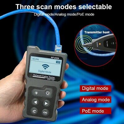 UK_ NF-8209 LCD Display Lan Cable POE Wire Checker Cat5 Cat6 Network Scan Test T • 36.41£