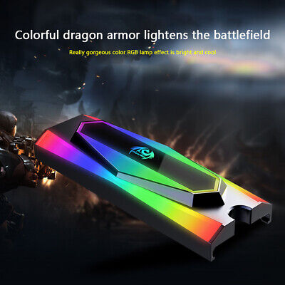 Great Wall M.2 2280 SSD Heatsink Cooler Aluminum RGB Hard Disk Dissipation Pad • 8.29£