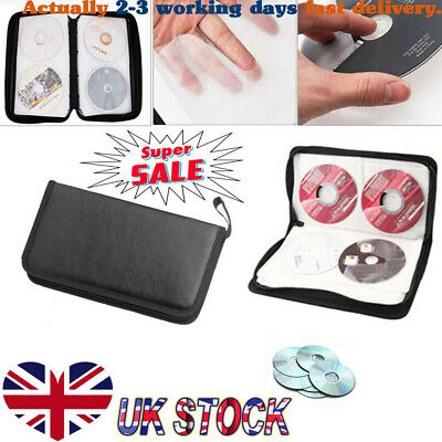 Portable 80x Disc CD VCD DVD Carry Bag Car Storage Holder Case Wallet Organizer • 4.88£