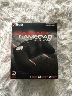 NEW Trust Gaming GXT 24 Gamepad For PC, Tablet - Black • 9.99£