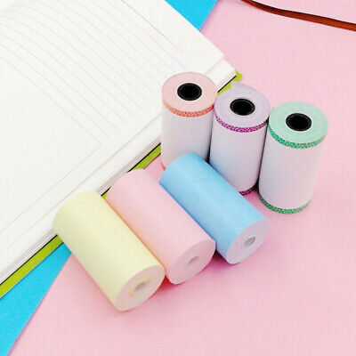 6PCS 57*30mm Printer Sticker Paper Roll A6 PeriPage Pocket Direct Thermal Paper • 5.88£