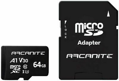 ARCANITE 64GB MicroSDXC Memory Card With Adapter - A1, UHS-I U3, V30, 64 GB  • 17.39£