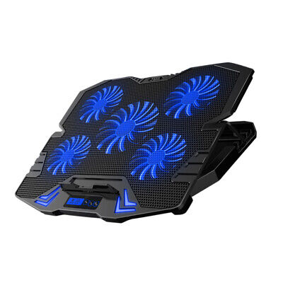 12 -17  Gaming Cooling Pad Notebook Laptop Cooler Stand LED Light 5 Quiet Fans • 17.99£