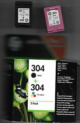 HP 304 - 1 X Black Ink + 1 X Colour (Empty Ink Cartridges) Ideal For Refill  • 8.99£