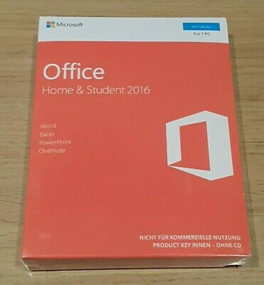 Microsoft Office 2016 Home And Student - BRAND NEW BOXED PRODUCT KEY • 44.99£