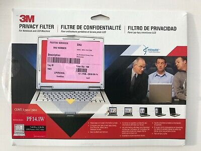 3M™ Privacy Filter Screen For 14  Widescreen Laptop - Frameless  PF14.1W • 3£