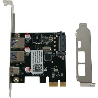 Usb 3.1 Type C Pcie Expansion Card Pci E To 1 Type C And 2 Type A 3.0 Usb L5Q9 • 10.31£