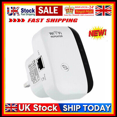 Strong 300Mbps WiFi Signal Repeater Extender Range Booster Network Amplifier UK • 7.93£