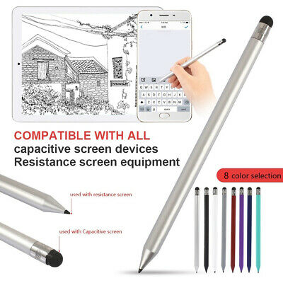 Fine Point Stylus Round Thin Tip Stylus Pen Pencil For Phones Android For I Pad • 3.99£