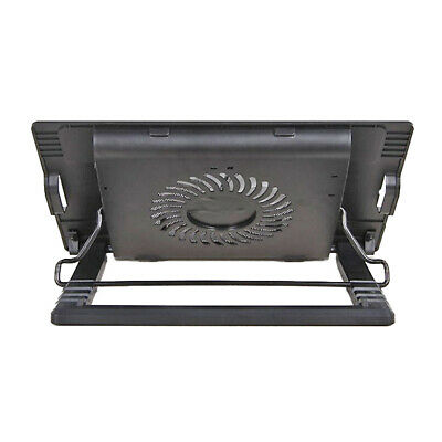 Laptop Cooler Stand Ultra Quiet Computer Height Adjustable Antiskid 2 USB Ports • 21£