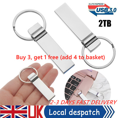 2TB Flash Drive USB 3.0 Memory Stick Pendrive Disk Metal Key Thumb -For PC UK • 4.88£
