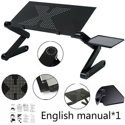 Portable Laptop Bed Table Desk Stand Lap Sofa Outdoor Notebook Computer Tray • 13.89£