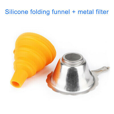 Metal UV Resin Filter Cup + Silicone Funnel For ANYCUBIC Photon SLA 3D Printer U • 6.99£