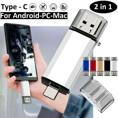 TYPE-C OTG 2 In 1 USB Memory Photo Stick Flash Pen Drive Android/Samsung/PC/Mac • 11.99£
