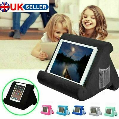 UK Soft Pillow Lap Stand For IPad Tablet Multi-Angle Phone Cushion Laptop Holder • 11.99£