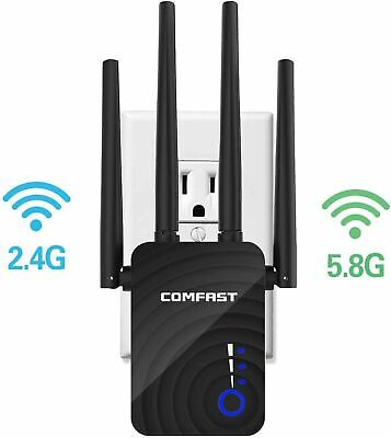 WR754AC 2.4/5.8Ghz 1200Mbps WiFi Repeater Wireless Range Extender Signal Booster • 24.99£