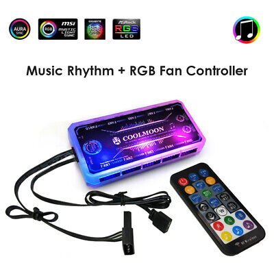 RGB Fan Controller 120mm Computer Case PC Cooling Chassis Silent Fan Hub Adapter • 8.83£