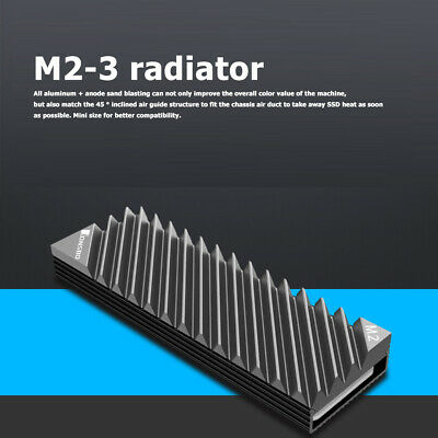 M.2 2280 SSD Hard Disk Aluminum Heat Sink With Thermal Pad For Desktop PC UK • 7.10£