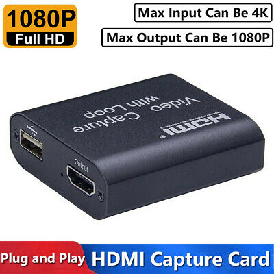 4K HDMI To USB 2.0 Video Capture Card 1080P HD Recorder For Game Live Streaming • 11.29£