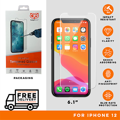 Tempered Glass Screen Protector For IPhone 12 Pro 11 Max Mini IPhone XR X XS • 3.50£
