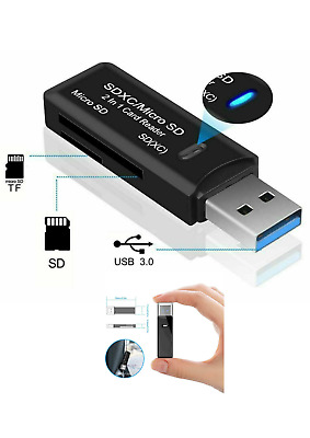 High Speed USB 3.0 SD Memory Card Reader Adapter Micro SD SDXC SDHC TF PC Laptop • 2.79£